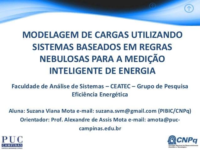 MODELAGEM DE CARGAS UTILIZANDO SISTEMAS BASEADOS EM REGRAS NEBULOSAS PARA A MEDIÇÃO INTELIGENTE DE ENERGIA Faculdade de An...