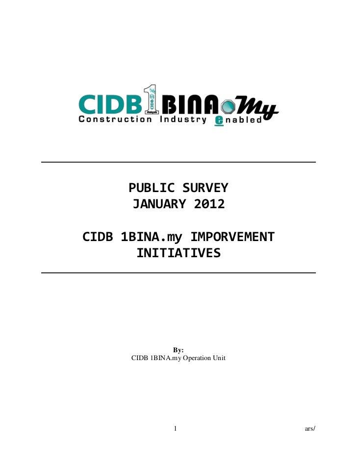 cidb1bina 2012 survey