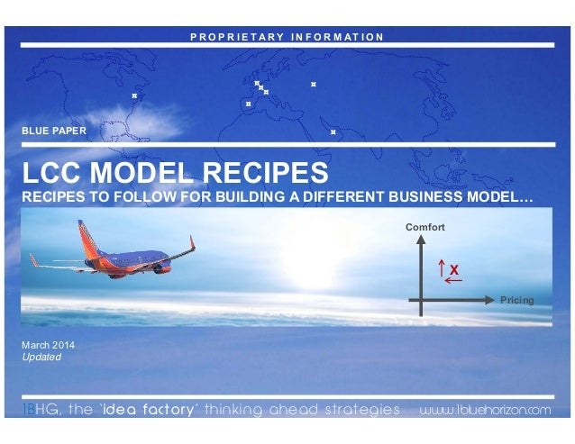 The Low Cost Carriers Recipes