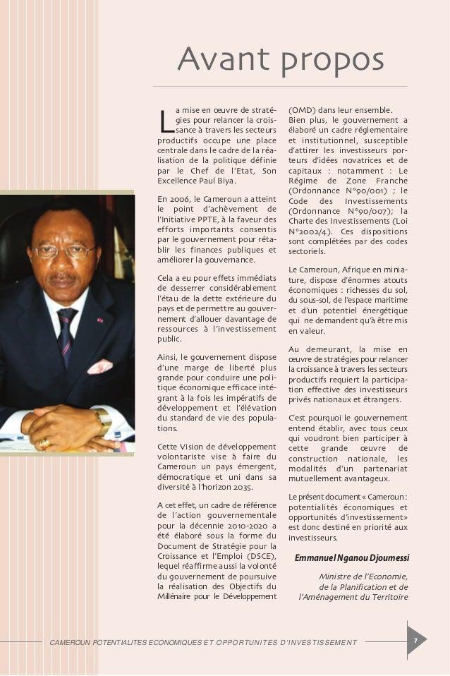 Cameroun opportunites d investissement for Chambre de commerce cameroun