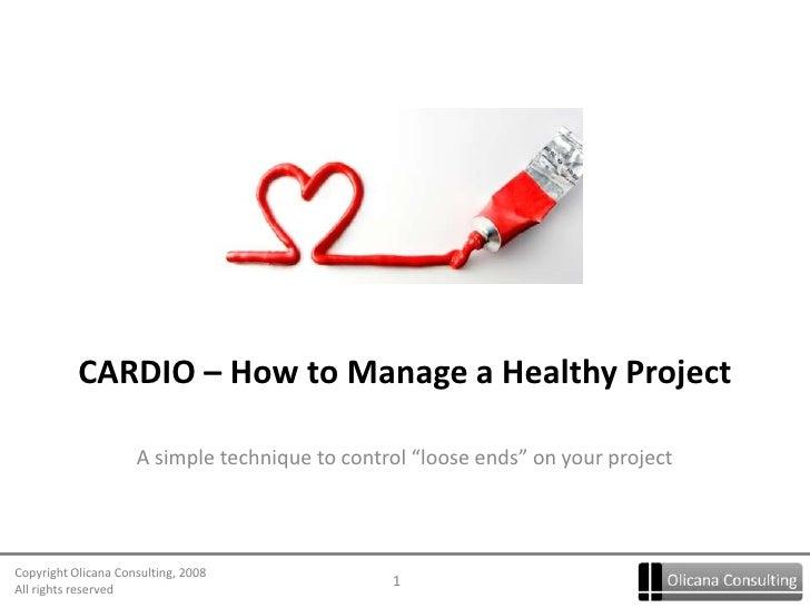 1 Cardio Management