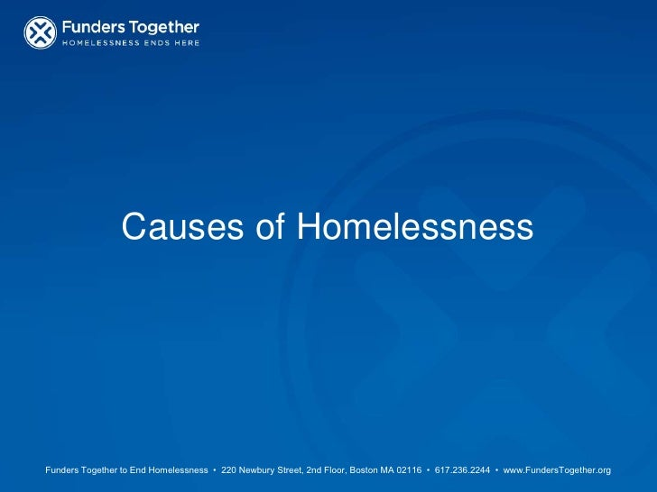 Causes of Homelessness<br />