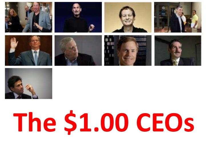 The $1.00 CEOs
