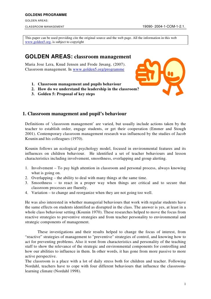 GOLDEN5 PROGRAMME  GOLDEN AREAS:                                                                                     19090...