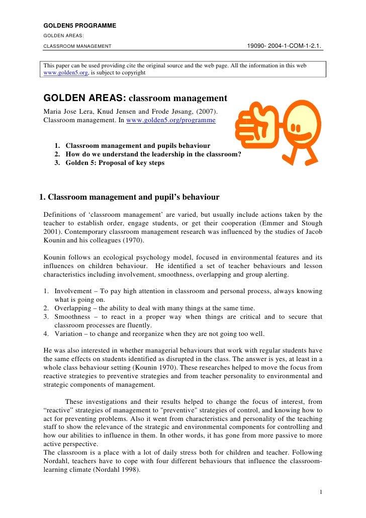 1 Classroom Management