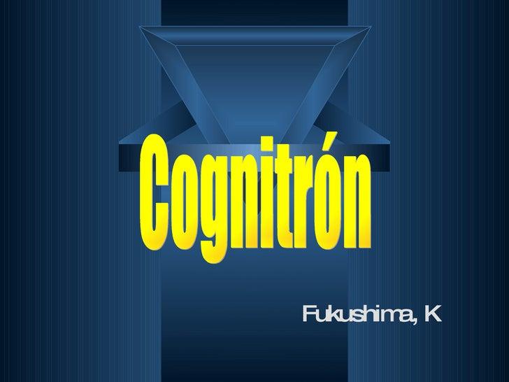 Fukushima, K  Cognitrón