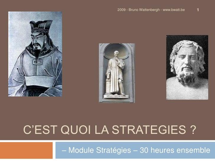 Intro à la stratégie - Définition