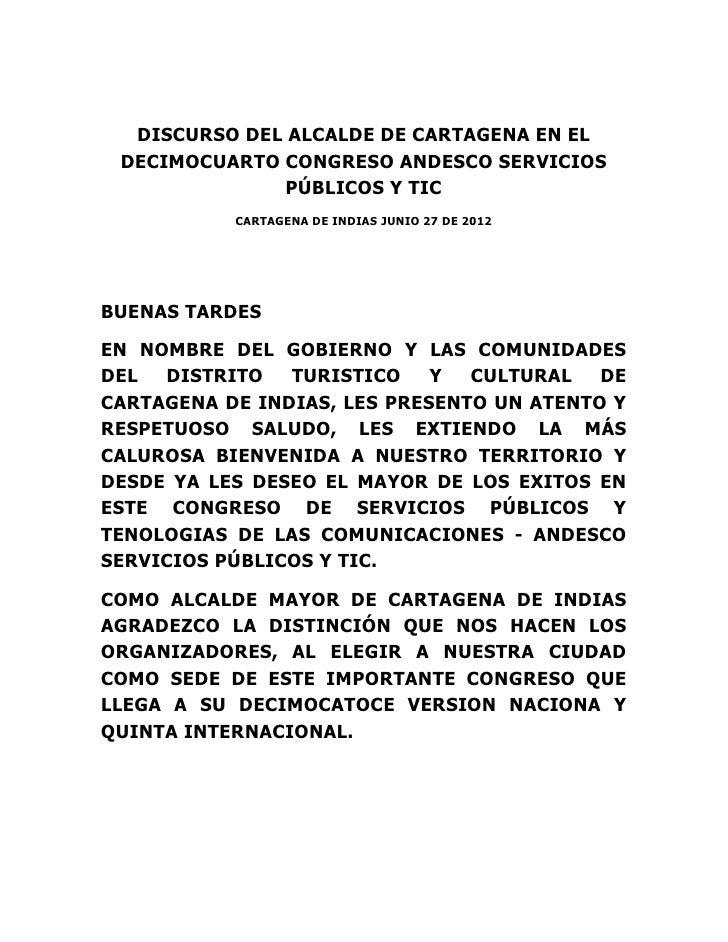 1d   plenaria - discurso alcalde cartagena
