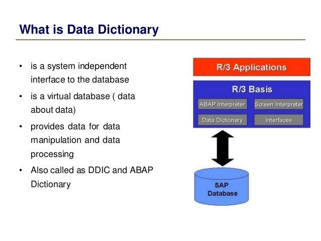 Sap abap data dictionary for Data dictionary