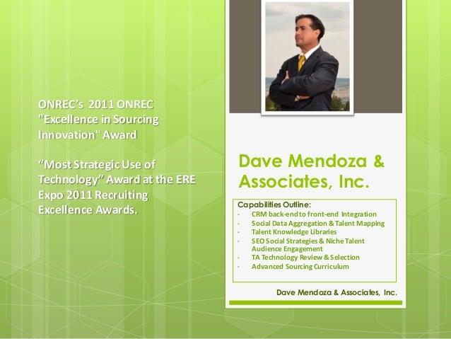 Dave Mendoza & Associates  - Capability Review