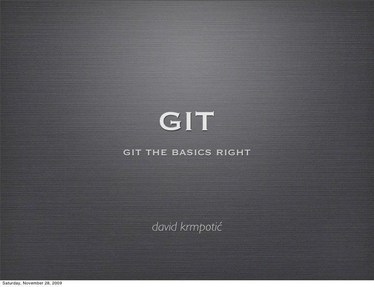 David Krmpotic: Git