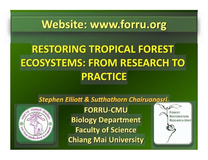 CHIANG MAI COURSE - Definitions and ANR / Stephen Elliott & Sutthathorn Chairuanasri