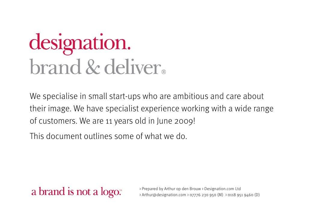 1 Designation Brand  Deliver Duplexprint