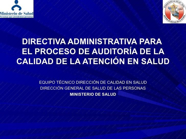 Directiva Administrativa de Auditoria HCLLH