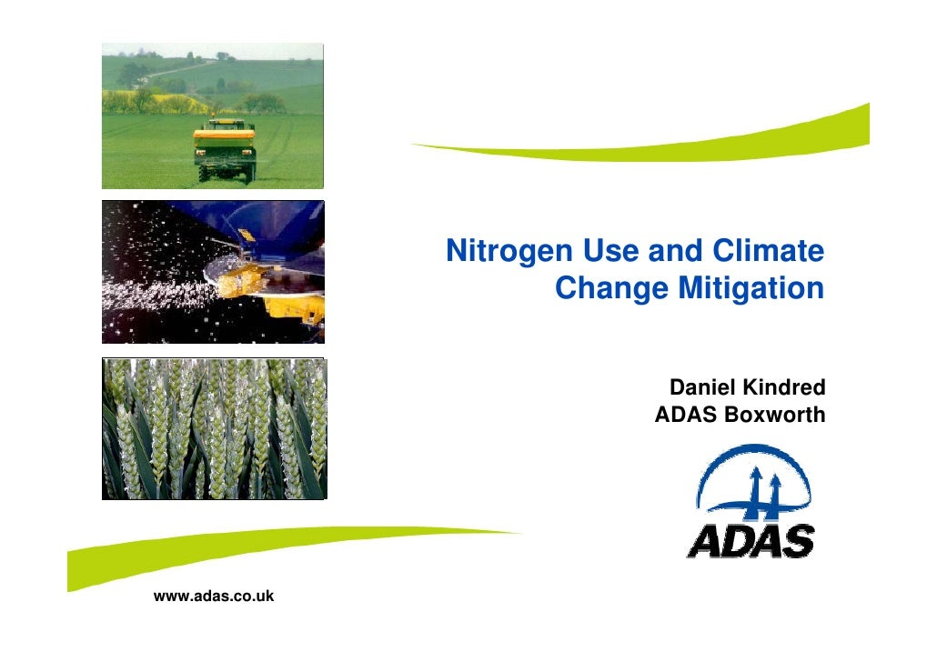 Insert image here                         Nitrogen Use and Climate Insert image here                            Change Mit...