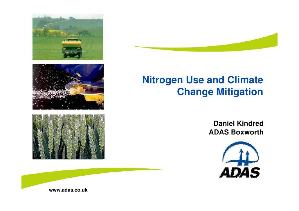 Nitrogen Use and Climate Change Mitigation - Daniel Kindred (ADAS)