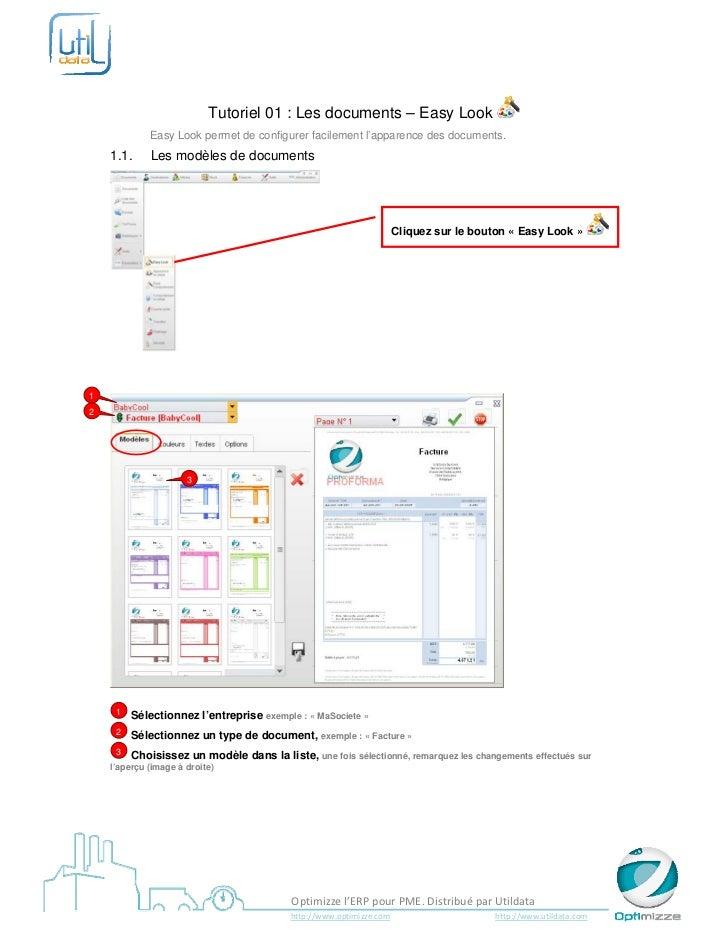 Tutoriel 01 : Les documents – Easy Look               Easy Look permet de configurer fac...