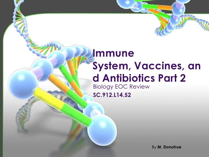 ImmuneSystem, Vaccines, and Antibiotics Part 2Biology EOC ReviewSC.912.L14.52                     By M. Donohue
