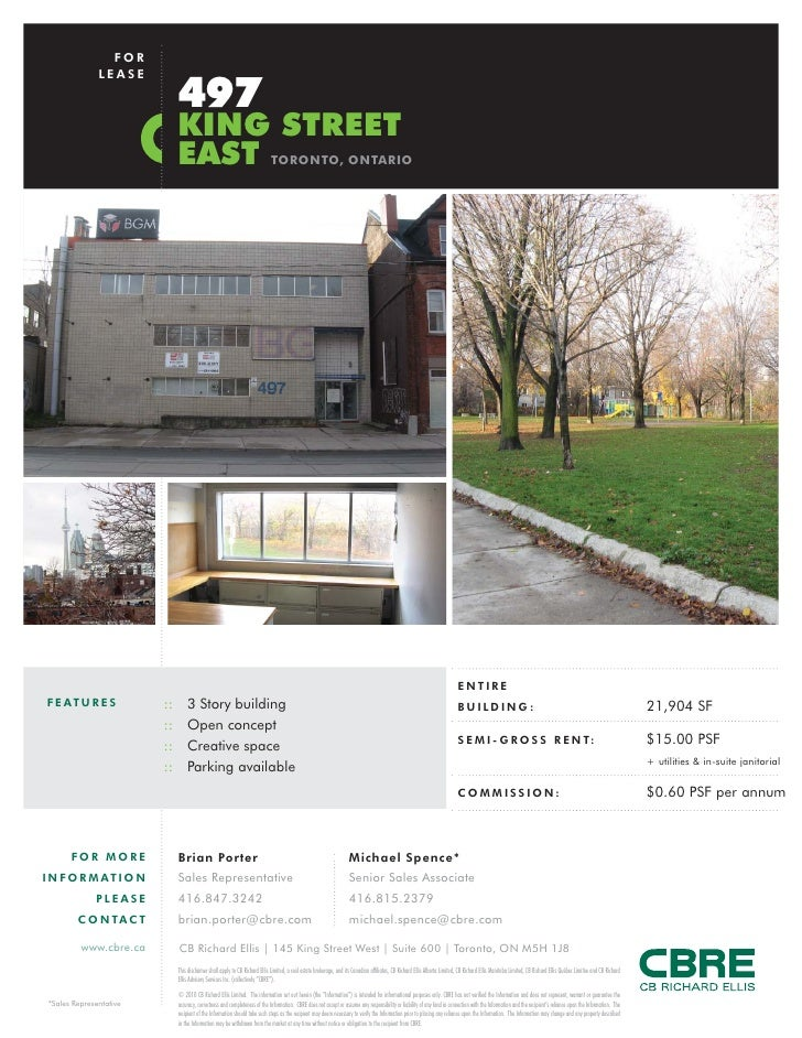 FOR                LEASE                                497                               KING STREET                     ...