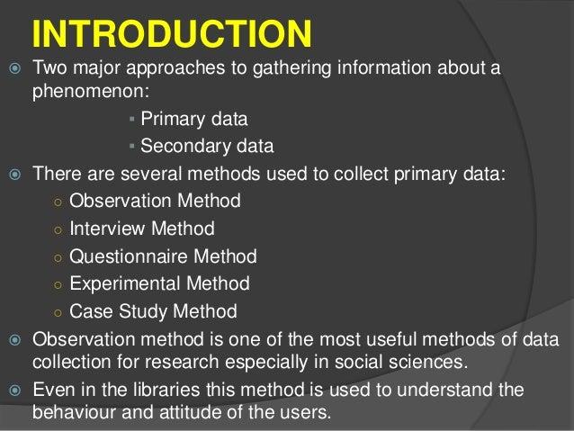 Observation methods in research methodology