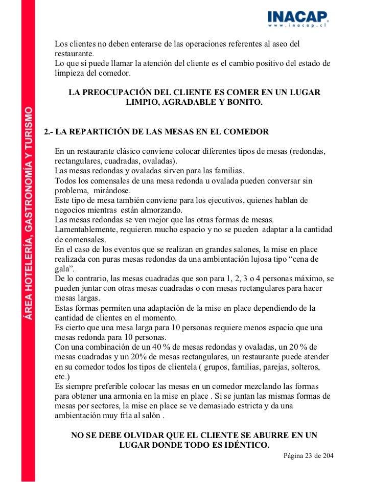 Manual de servicio for Manual de operaciones de un restaurante ejemplo