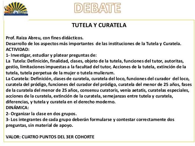 Matrimonio Romano Tutela Y Curatela : Era asignación del er cohorte debate tutela y curatela