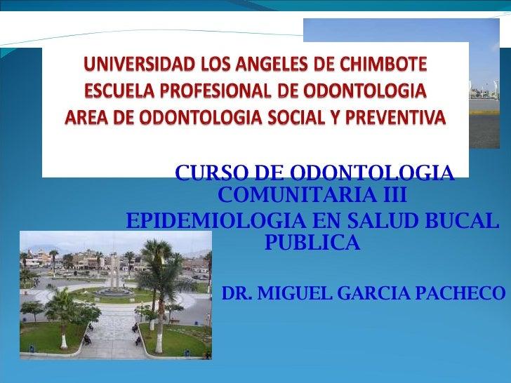 1eraclase Comunitaria Iii Epidemiologia
