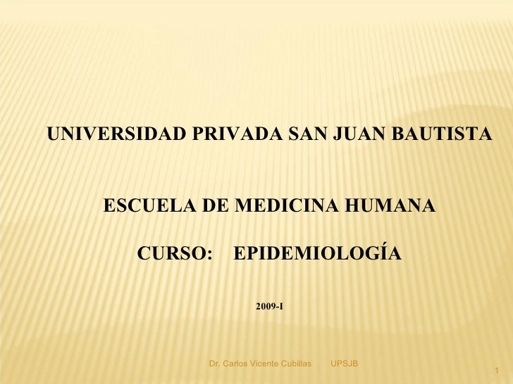 1era Clase Epidemiología 2009-2