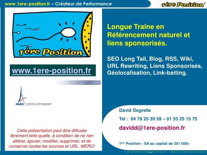www.1ere-position.fr – Créateur de Performance                                                        Longue Traîne en    ...
