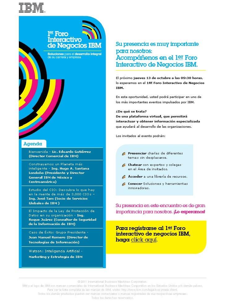 FORO interactivo de negocios IBM Mexico