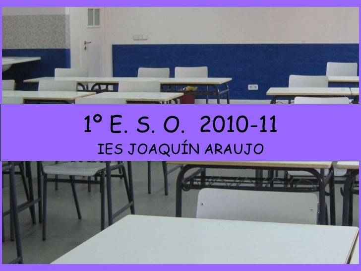 1º E. S. O.  2010-11 IES JOAQUÍN ARAUJO