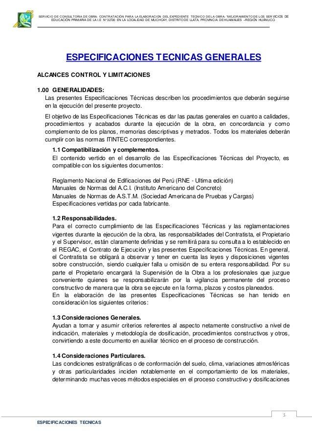 """SERVICIO DE CONSULTORIA DE OBRA: CONTRATACIÓN PARA LA ELABORACION DEL EXPEDIENTE TECNICO DE LA OBRA: """"MEJORAMIENTO DE LOS ..."""