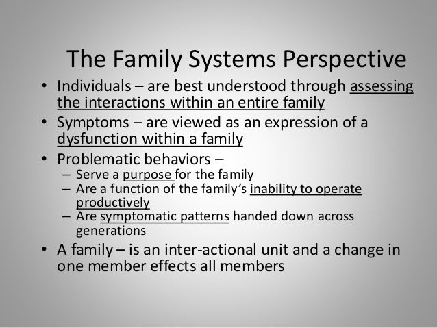 family system therapy and postmodernism Coming to grips with family systems theory in is bowen theory still relevant in the family therapy postmodernism such as narrative.