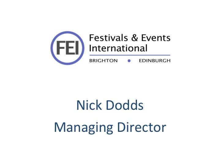 Nick Dodds  Managing Director