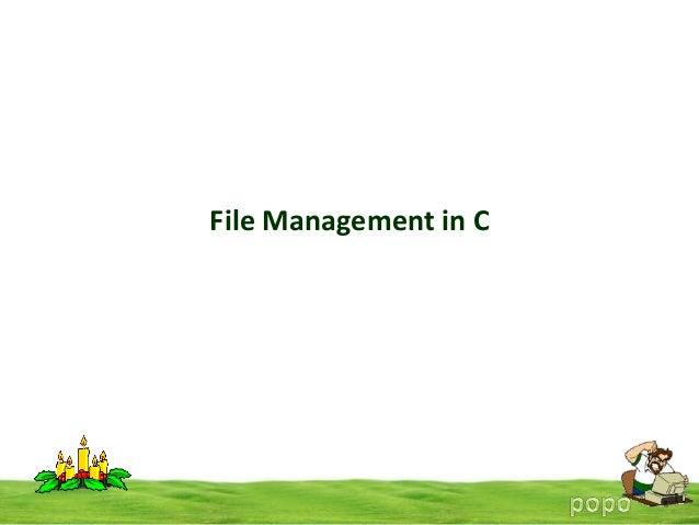 File Management in C