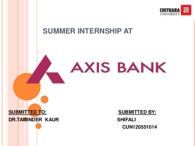 SUMMER INTERNSHIP AT SUBMITTED TO: SUBMITTED BY: DR.TAMINDER KAUR SHIFALI CUN120551014
