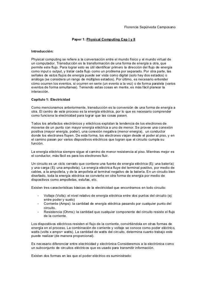 Paper I: Cap 1 y 2 (Physical Computing)