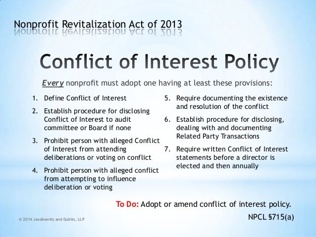Conflict of Interest Template Define Conflict of Interest 2