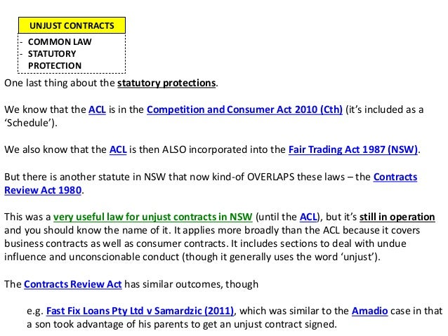 What does the fair trading act 1987 nsw do