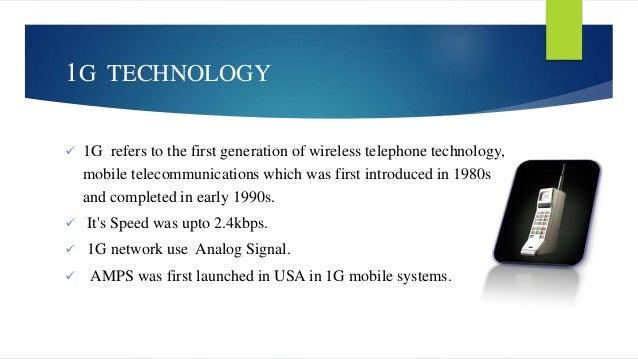 Wireless technology 1g 2g 3g 4g