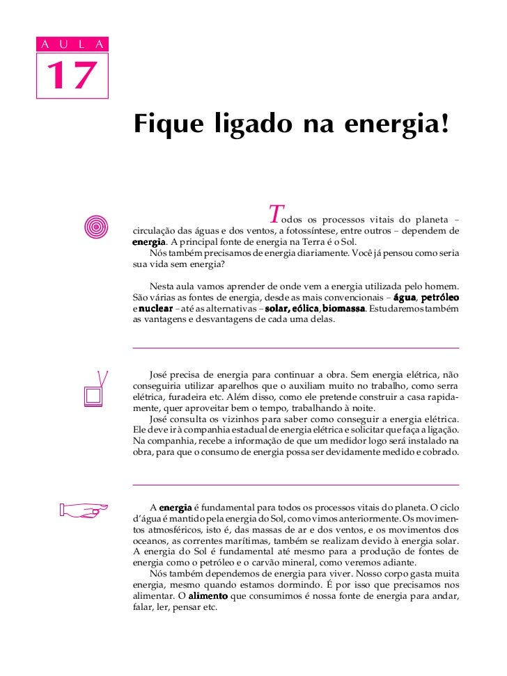 A UA U L A     L A    1717       3             Fique ligado na energia!                                               T od...