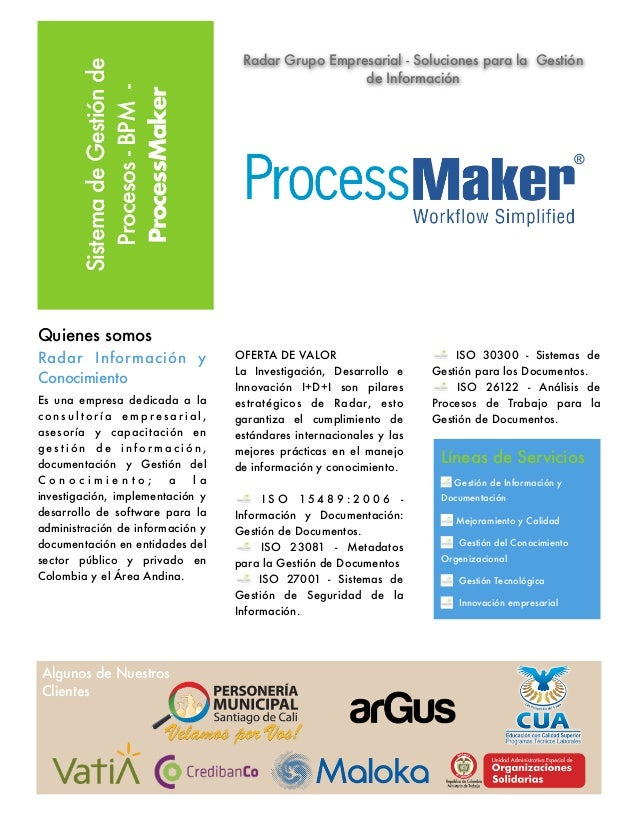 Process maker   bpm - Radar Grupo Empresarial