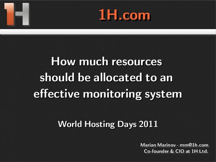 Monitoring costs