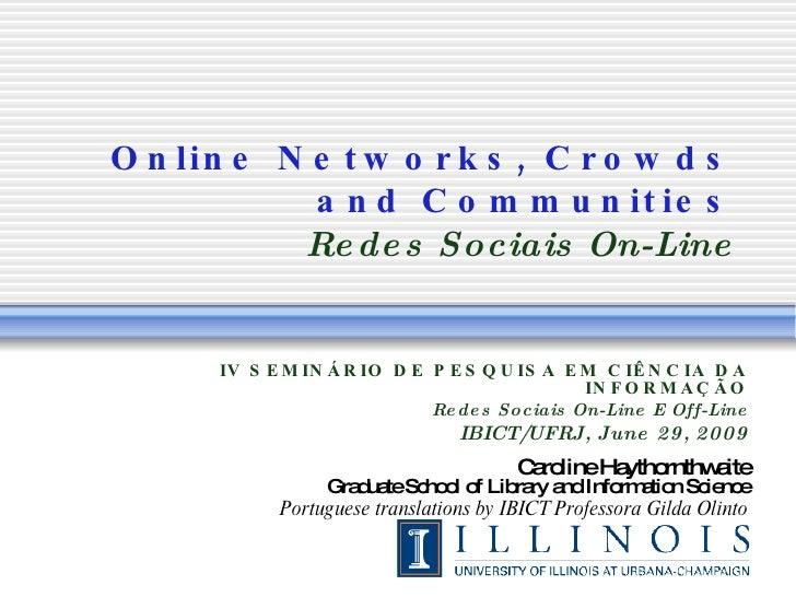 Redes Sociais - Sou mais Web - julho/2009