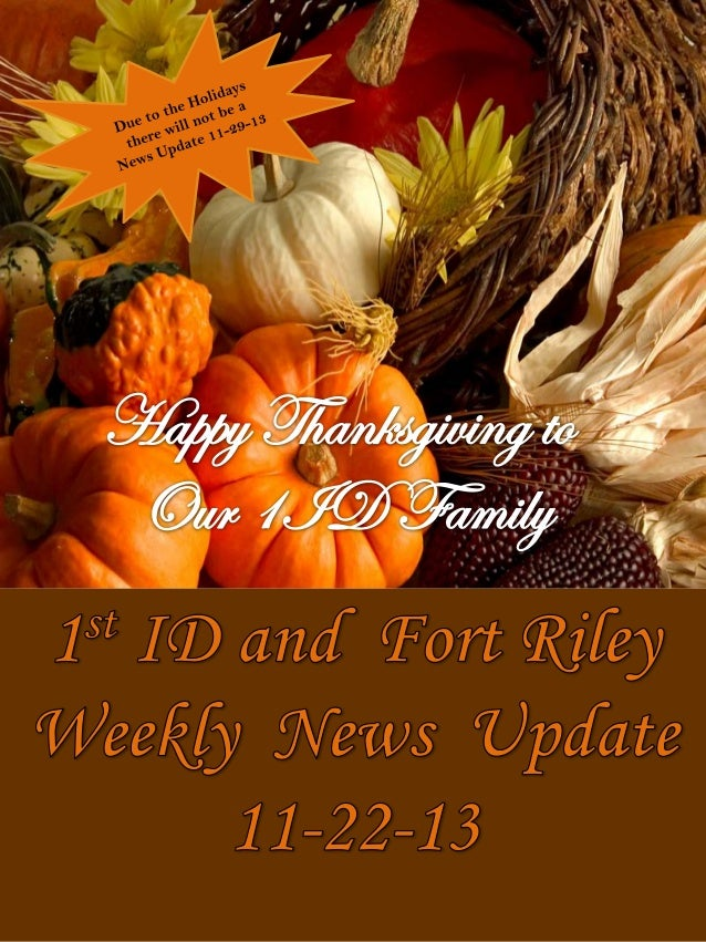 1 ID and Fort Riley Weekly News Update  11 22-13