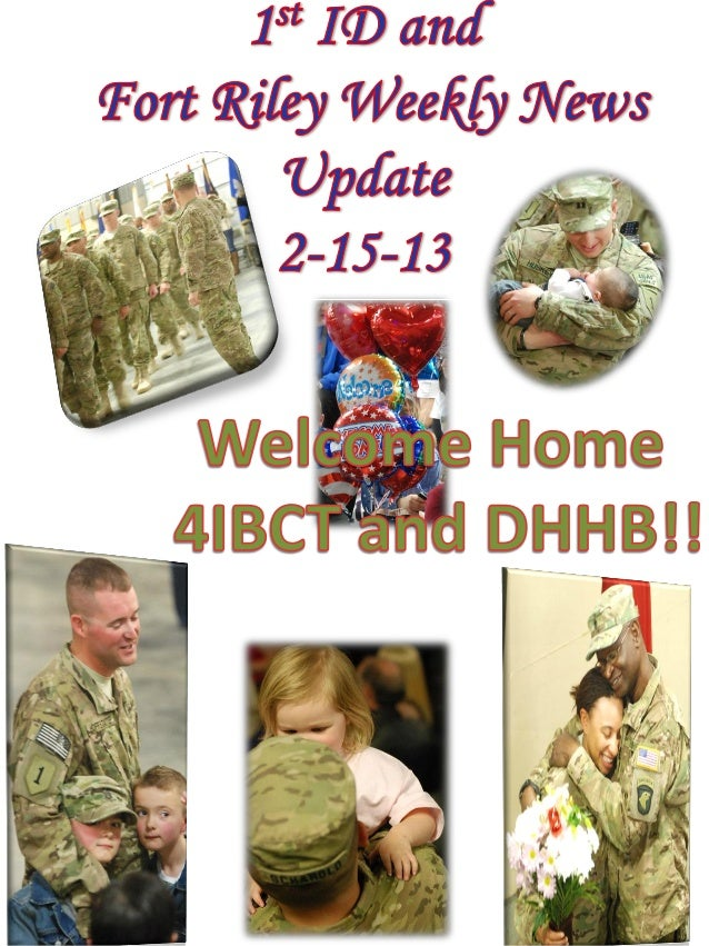 1 ID and Fort Riley Weekly News Update 2 15-13