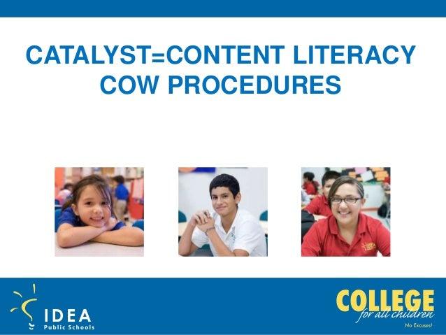 IDEA Culture Camp COW procedures