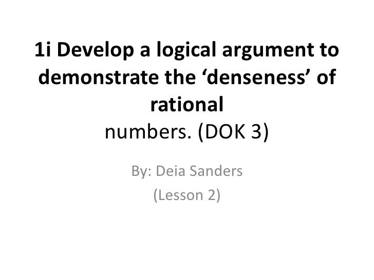 1i denseness of numbers lesson 2