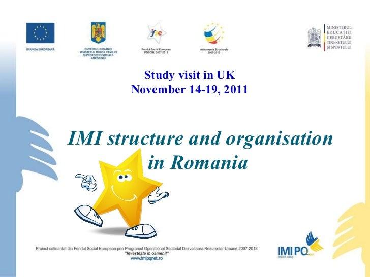 IMI Structure and Organisation in Romania - Alexandru-Ionut Chiuta