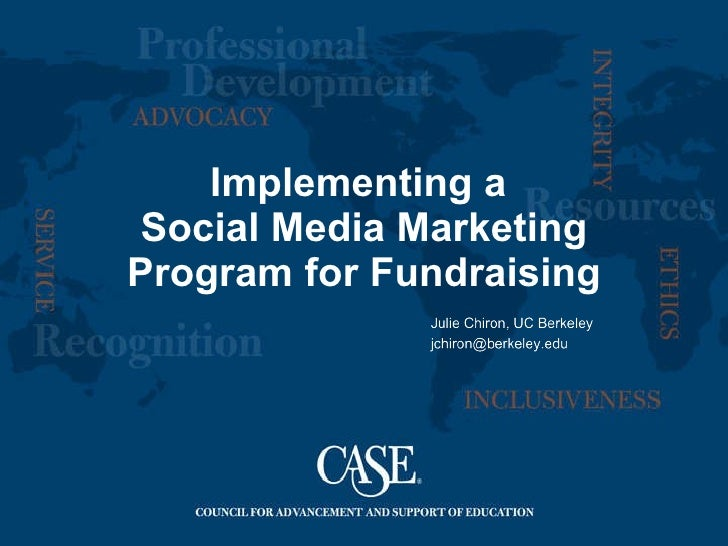 Implementing a  Social Media Marketing Program for Fundraising